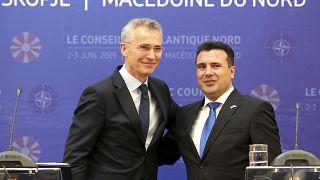 Jens Stoltenberg, Zoran Zaev (2019)