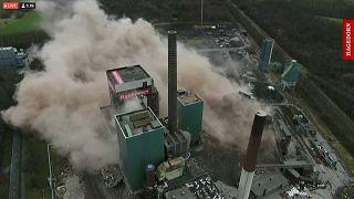 Kraftwerksprengung in Lünen