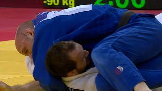 Tiflis Judo Grand Slam nefes kesici maçlara sahne oldu