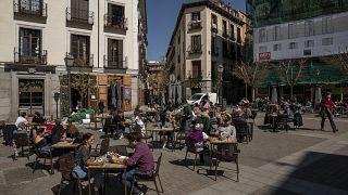 Las terrazas siguen abiertas en Madrid