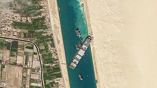 Η Διώρυγα του Σουέζ από δορυφόρο