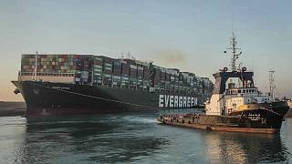 Ever Given, a Panama-flagged cargo ship