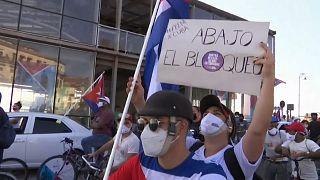 Caravana para pedir el fin del bloqueo de Estados Unidos, La Habana, Cuba, 28/3/2021