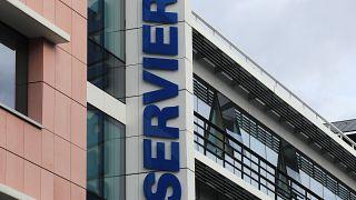 Le siège des laboratoires Servier à Suresnes - département des Hauts-de-Seine -, pris en photo le 3 septembre 2019
