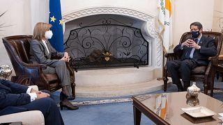 Ο Πρόεδρος της Κύπρου είχε συνάντηση με την Επίτροπο Υγείας της ΕΕ Στέλλα Κυριακίδου στην Λευκωσία
