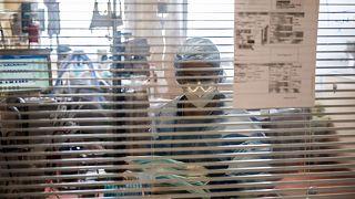Unité de réanimation de l'hôpital du Port-Marly, en région Île-de-France, le 25 mars 2021