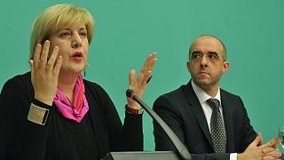 A jelentést készítő Dunja Mijatovic Kovács Zoltánnal 2011-ben