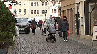 Shopping in Weimar am 29. März 2021 zu Beginn der Osterferien
