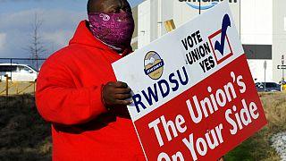 Incitation au vote des salariés du site Amazon en Alabama, 9 février 2021