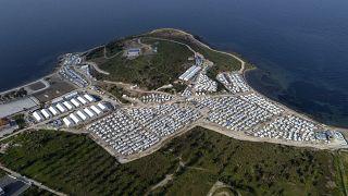 مخيم كراتيب على جزيرة ليسبوس اليونانية. 2021/03/29