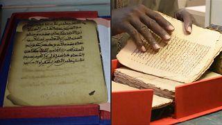 مخطوطات عربية قديمة في مكتبة تمبوكتو في مالي