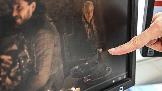 مشهد من الحلقة الأخيرة من سلسلة صراع العروش التلفزيونية