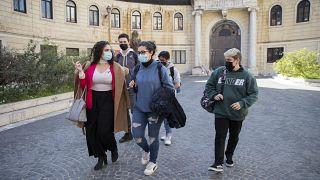 ماتيو ككشسميليو يغادر مدرسة روما للفنون. 2021/03/24