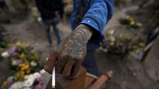 Cementerio del Chalco, en las afueras de Ciudad de México