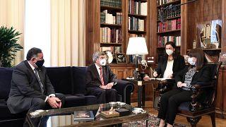 Συνάντηση της Προέδρου της Ελληνικής Δημοκρατίας Κ.Σακελλαροπούλου με τον Πρόεδρος της ΔΟΕ Τόμας Μπαχ