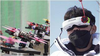 بطولة كوريا الجنوبية بقيادة طائرات الدرون الصغيرة