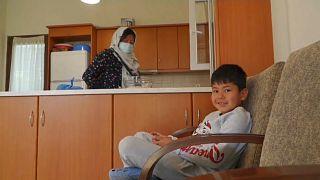 Átmeneti otthonok menekülőknek Leszboszon