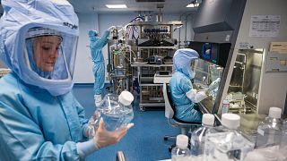 BioNTech'in Marburg kentinde kurduğu aşı üretim tesisi