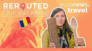 Eva zu Beck tries her hand at carpentry in Romania.