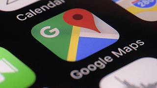 FILE photo, March 22, 2017 - Google Maps app on a smartphone, in New York