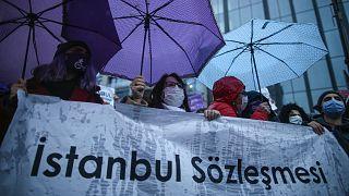 Türkiye'nin İstanbul Sözleşmesi'nden çekilmesine karşı eylem