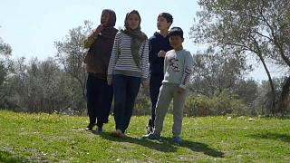 An family of Afghan refugees in Lesbos have been helped to find housing on the Greek island of Lesbos.