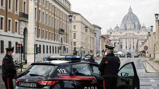Итальянские карабинеры в Риме