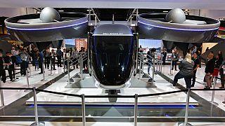 Bell Nexus 4EX model 4 pervaneli uçan drone. (Las Vegas, Ocak 2020)