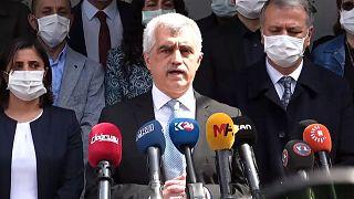 Ömer Faruk Gergerlioğlu, 'Adalet Nöbeti'ni HDP Genel Merkezi'nde sürdürüyor.