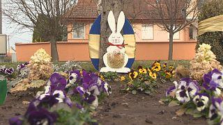Húsvéti díszítés a Bács-Kiskun megyei Városföldön