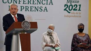 المنتدى الذي تستضيفه المكسيك وفرنسا، القصر الوطني في مكسيكو سيتي، 29 مارس 2021.