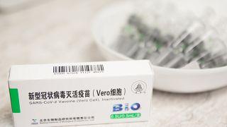 ARCHÍV: a Sinopharm vakcinái egy szentendrei háziorvosi rendelőben 2021. február 27-én.