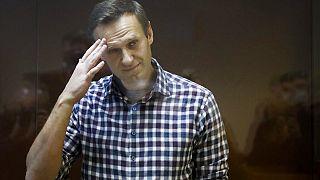 Navalnij az orosz bíróságon 2021 februárjában