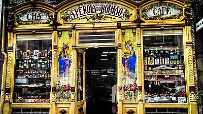 Pérola do Bolhão's striking art nouveau facade is a well-known landmark in Porto