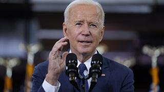 President Joe Biden delivers a speech on infrastructure spending at Carpenters Pittsburgh Training Center, Wednesday, March 31, 2021, in Pittsburgh.