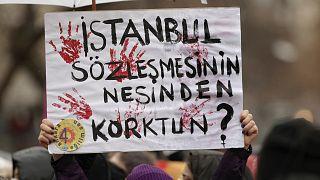 İstanbul Sözleşmesi'nden çekilme kararına tepki eylemleri / Arşiv