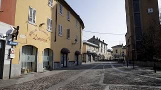 شارع  في بلدة كودوجنو، بالقرب من لودي، شمال إيطاليا