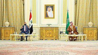 دیدار محمد بن سلمان، ولیعهد سعودی و مصطفی کاظمی، نخست وزیر عراق