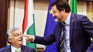 Orbán Viktor és Matteo Salvini 2018-ban