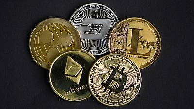 Physical imitations of just some of the thousands of cryptocurrencies available to buy and sell.