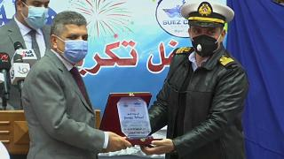 Egypt honours Suez Canal salvage teams