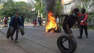 ادامه تظاهرات در میانمار