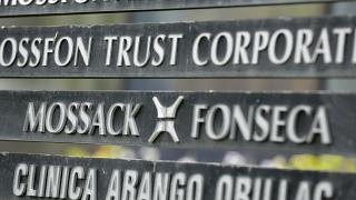 In this April 4, 2016 file photo, a marquee of the Arango Orillac Building lists the Mossack-Fonseca law firm, in Panama City.