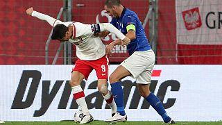 Leonardo Bonucci in una foto d'archivio con la maglia della Nazionale