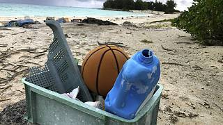 File photo - Plastic waste in the beach
