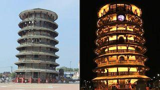 برج ماليزيا المائل