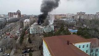 Στιγμιότυπο από την φωτιά στο ρωσικό νοσοκομείο
