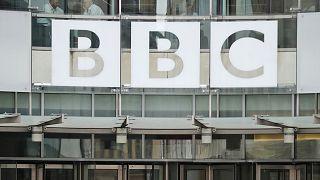 A BBC londoni központjának bejárata