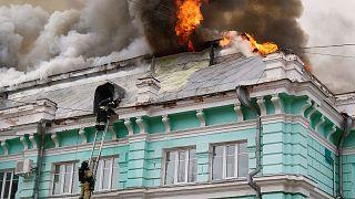 آتشسوزی در یکی از بیمارستانهای بلاگووشچنسک