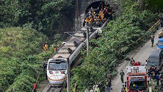 Tayvan'da tren kazası